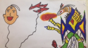 One of Sanjay's drawings