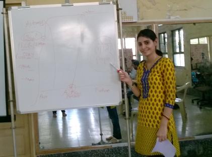 Daisy Daruwalla teaching the  remembering map